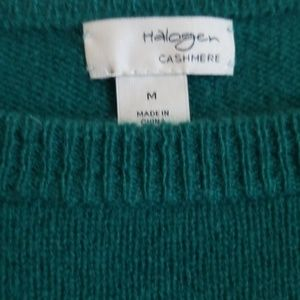 Halogen Sweaters - Halogen Cashmere Sweater 100% Green crewneck Med